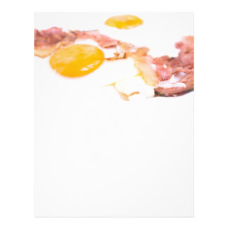 Fried eggs with bacon flyer