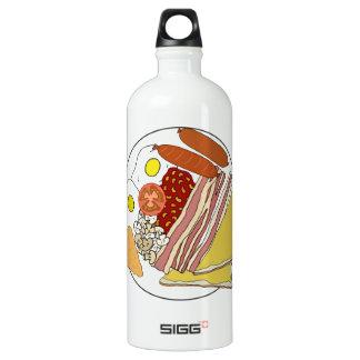 Fried English Breakfast Plate Aluminum Water Bottle
