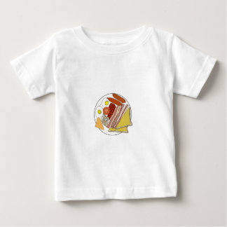 Fried English Breakfast Plate Baby T-Shirt