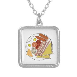 Fried English Breakfast Plate Jewelry