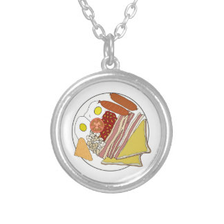 Fried English Breakfast Plate Necklaces