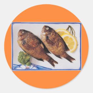 Fried Fish Classic Round Sticker