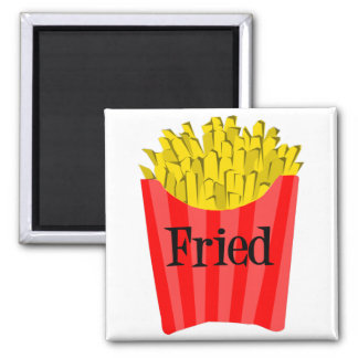 Fried Fries 2 Inch Square Magnet