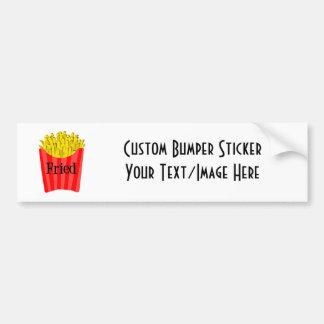 Fried Fries Car Bumper Sticker