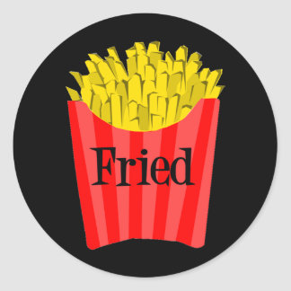 Fried Fries Classic Round Sticker