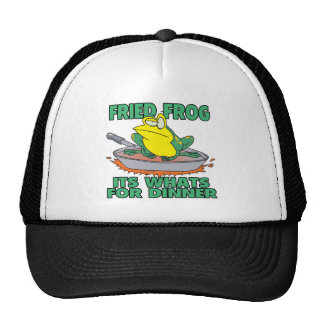 fried frog its whats for dinner mesh hat