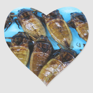 Fried Giant Water Bug (Maeng Daa) Heart Sticker