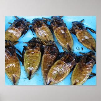Fried Giant Water Bug (Maeng Daa) Poster