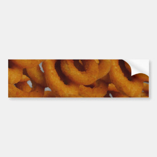 Fried Golden Onion Rings Photography Bumper Sticker