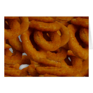 Fried Golden Onion Rings Photography Card