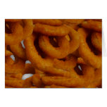 Fried Golden Onion Rings Photography Greeting Card