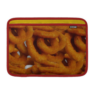 Fried Golden Onion Rings Photography MacBook Air Sleeve