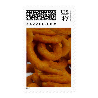 Fried Golden Onion Rings Photography Postage