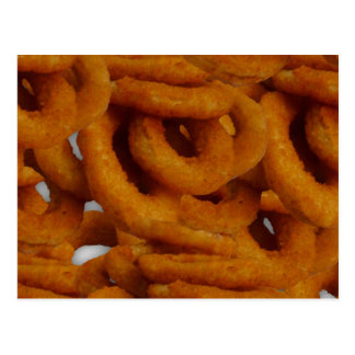 Fried Golden Onion Rings Photography Postcard