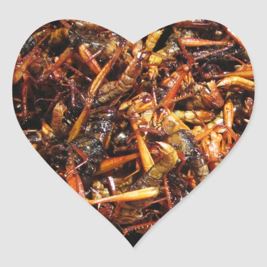 Fried Grasshopper (Takkataen Thot) Asian Food Heart Sticker