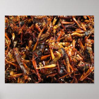 Fried Grasshopper (Takkataen Thot) Asian Food Poster