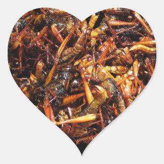 Fried Grasshopper (Takkataen Thot) Heart Sticker
