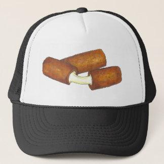 Fried Mozzarella Sticks Cheese Junk Food Foodie Trucker Hat