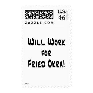 Fried Okra Postage