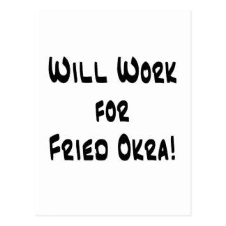 Fried Okra Postcard
