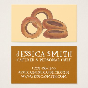 Professional Business Fried Onion Rings Fast Food Chef Caterer Cook Business Card