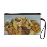 fried potatoes and onions with cheese 2 wristlet purse