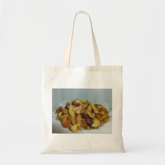 fried potatoes and onions with cheese 2 canvas bag