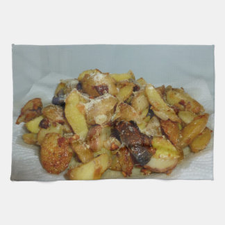 Fried Potatoes And Onions With Cheese 2 Towel