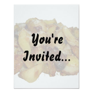 "fried potatoes and onions with cheese.jpg 4.25"" x 5.5"" invitation card"
