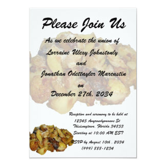 "fried potatoes and onions with cheese.jpg 5"" x 7"" invitation card"