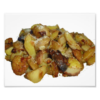 fried potatoes and onions with cheese.jpg photo print