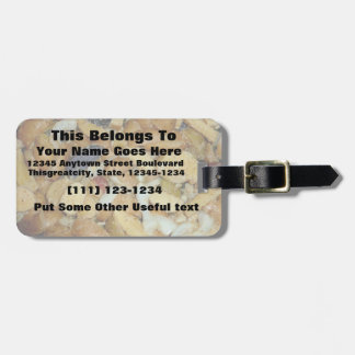 fried potatoes cheese onions food photo luggage tag