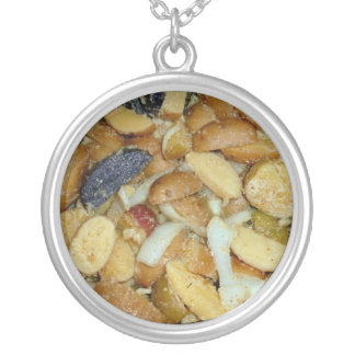 fried potatoes cheese onions food photo necklaces
