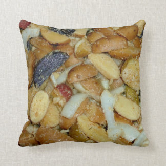 fried potatoes cheese onions food photo throw pillow
