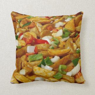 Fried Potatoes Pillow! Throw Pillow
