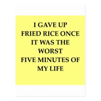 FRIED rice Postcard