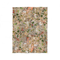 Fried Rice with Shrimp Fleece Blanket