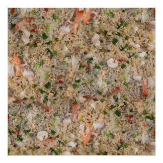 Fried Rice with Shrimp Poster