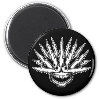 Fried Skull II 2 Inch Round Magnet