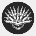 Fried Skull II Stickers
