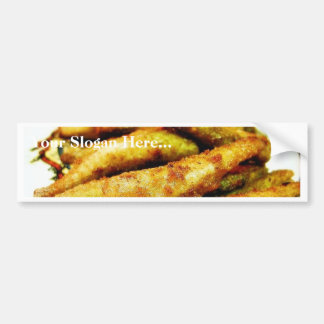 Fried Smelt Food Dinner Cooked Car Bumper Sticker