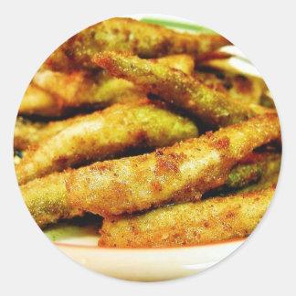 Fried Smelt Food Dinner Cooked Round Sticker