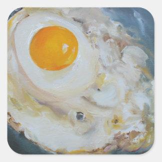Fried Sunny-Side-Up Egg Square Sticker