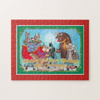 Frieda Tails Christmas puzzle - the Sleigh