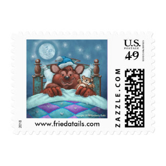 Frieda Tails stamps - Barney the Bear