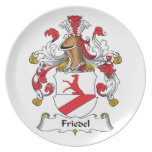 Friedel Family Crest Party Plates