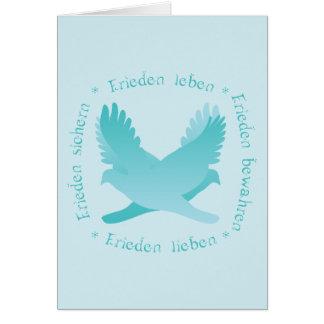 Frieden sichern, bewahren, leben, lieben card