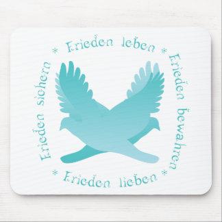 Frieden sichern, bewahren, leben, lieben mouse pad