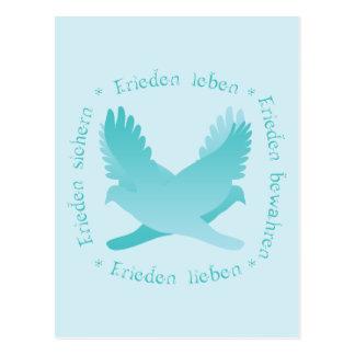 Frieden sichern, bewahren, leben, lieben postcard