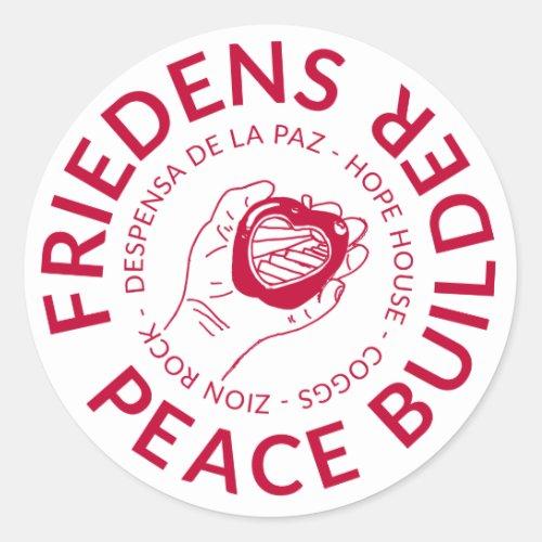 Friedens Peace Builder Sticker